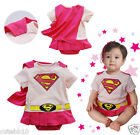 Baby Boy Superman Supergirl Fancy Dress Costume Babygrow Outfit 6 months- 2 yrs