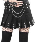 Jawbreaker Silver Chains Mini Skirt Handcuffs Chain Studs Gothic Punk Metal Rock