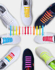 18 pcs Silicone Shoelace Elastic Easy Tie Shoes Lace All Sneakers Fit Strap