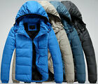 new hot blue men down coat winter jacket ski hooded thicken hoody пуховая курткa