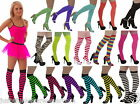 NEON OVER THE KNEE SOCKS 80's fancy dress TUTU party