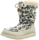SKECHERS KEEPSAKES Natural Animal Knit Beige Crossing Slouch Boots Shoes NEW NIB