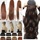 Human Favored Clip in on hair extensions one piece half full head brown class 1