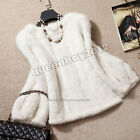 100% Real Knitted Mink Fur Pullover Poncho Jacket Coat Cape Sweater Warm custom