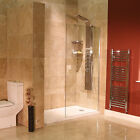 Bathroom Shower 8mm Glass Panel 1850 x 760  Walk In Wet Room Return Screen(opt)