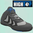 """""""HighTop"""" Grey Steel Toe Cap Safety Boots. High Tops Trainers Shoes Hi HT001"""
