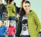 New Women's Outwear Winter Warm Hoodie Zip Up Down Slim Jacket Coat Parka