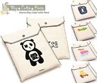 Paper Document Magazine Netbook Mini Laptop ipad Button Canvas Holder ~ 4 Styles