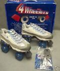 SKECHERS 4-WHEELERS Roller Skates Blue White sketchers quad derby rollerskates