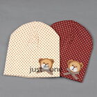 For 3M-6Y Baby Kids Girls Boys Fashion Lovely Bear Soft Cotton Hat Beanie Cap