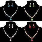 Cheap~Chic Shinning Necklace And Earring Jewelry Sets Perfect For Lady's Party