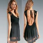 New sexy black dress size S M L women cocktail backless evening party club NWT