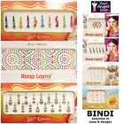 LOVELY SELECTION OF BINDI PACKETS WITH CRYSTAL DIAMANTE INDIAN TATTOO STICKERS