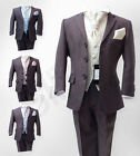 5PC Italian Cut Boys Wedding Suit in Grey, Page Boy Suits Age 6 M to 15 Years