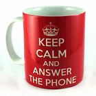 KEEP CALM AND ANSWER THE PHONE GIFT MUG CUP PRESENT OFFICE WORKER SECRETARY PA