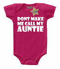CALL MY AUNTIE Baby Vest Cerise/Pink & White 100% Cotton Cheeky Chaps