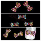 10pcs Alloy 3D Rhinestone Bow Tie Glitters Metal Beads Nail Art Phone Decoration