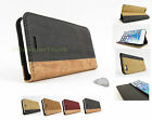 for Apple iPhone 6 (4.7 Inch) WOOD Grain Flip Wallet Phone Case Cover+PryTool