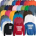 PERSONALISED CUSTOM PRINTED PREMIUM SWEATSHIRT, UNISEX TOP LONG SLEEVED