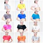 Girl Loose Batwing Sleeve T-Shirt Crop Top Blouse Modal Casual Tops Candy Color