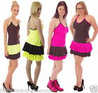 NEON TUTU  DRESS rara 80's FANCY