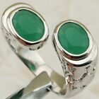 Size 6 7 8 9 Nice Double Green Emerald Jewelry Gold Filled Woman Gift Ring K2194