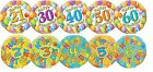 "FOIL BALLOONS - LANDMARK / NUMBER EVENTS - 18"" - 45cm - HELIUM - VARIOUS STYLES"