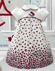 Pretty Originals Cream/Red Dress and Headband style BD01494 Age 3- 5 years