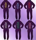 Purple Onesie KEEP CALM AND TROT ON adult print quality teen horse 80% COTTON
