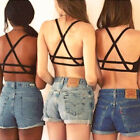 Women's Padded Bra Tank Tops Caged Bra Vest Crop Top Bralette Blouse Sexy Pop
