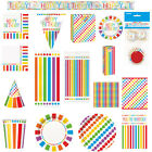 RAINBOW PARTY DOTS TABLEWARE DECORATIONS PARTYTIME KIDS THEME VALUE FUN PARTY