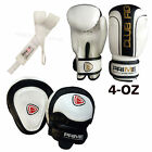 KIDS BOXING GLOVES PUNCH BAG JUNIOR MITTS & FOCUS PADS HAND WRAP TRAINING SET 8