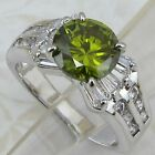 Size5 6 7 8 9 Great Nice Green Peridot Jewelry Gold Filled Woman Gift Ring K644