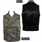 SHRINE CLOTHING Cavalier Gold Blue Victorian Tapestry Steampunk Vest S-XL NEW