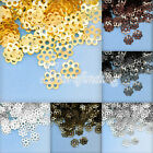20g Approx 200-800Pcs Flowers Normal Beads Caps Crafts Jewelry Making Findings