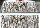 Snowstorm camouflage deer skull hunting rear window view thru graphic