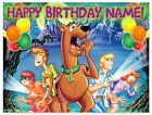 Scooby Doo Icing Birthday Edible Image Cake Topper Personalized Frosting Sheet