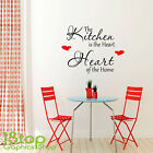 THE KITCHEN IS THE HEART OF THE HOME SMALL WALL ART QUOTE STICKER