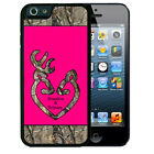 PERSONALIZED RUBBER CASE FOR iPHONE 6 6s or 6 6s Plus HOT PINK CAMO DEER HEAD