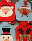 New Christmas festive hot water bottle & cover Santa Snowman Reindeer Robin