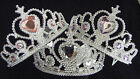Fancy Dress Dressing Up Princess Tiara Beauty Queen Crown Pink Purple or Silver