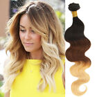 "UK local Hot 1/2/3Bundles Ombre Human Hair Extension 14""-20"" 1b33#27# Body Wave"