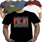 Live With Fear Bike Motorbike Funny Slogan Mens T shirt Dad Gift Present S-3X