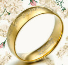 Men Women 18K Gold Matching Wedding Titanium Rings MKUS058 4mm Sz4-11