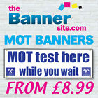 MOT TEST CAR MECHANICS THEMED PVC VINYL OUTDOOR BANNERS SIGN CUSTOM SIZES