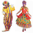 Funny Adult Clowns Costume Fancy Circus Fun Party Dress Halloween Jester Outfits