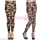 Womens Lady Camo Camouflage Stretch Trousers Tights Pants Leggings,One Size