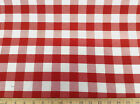Discount Twill Tablecloth Fabric Red and White Check DR18