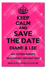 X-Large Personalised Keep Calm And Save The Date Fridge Magnets Any Colour