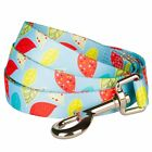 Blueberry Pet Dogs Lead Baby Blue Dog Leash with Multi Leaves Print